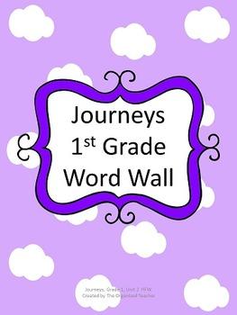 Journeys Word Wall, 1st Grade, Unit 2. Cloud Theme!