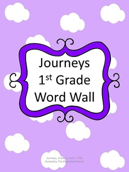 Journeys Word Wall, 1st Grade, Unit 2. Cloud Theme!
