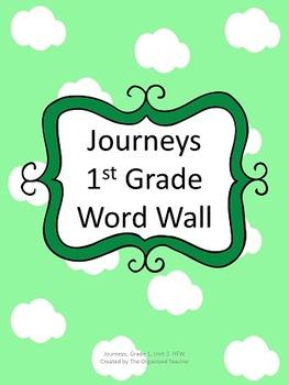 Journeys Word Wall, 1st Grade, Unit 3. Cloud Theme!