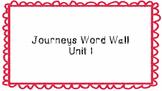Journeys First Grade Word Wall Unit 1