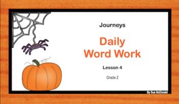 Journeys Word Work, Smart Board, Interactive Games, 18 Slides, Gr. 2, Lesson 4