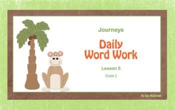 Journeys Word Work, Smart Board, Interactive Games, 18 Slides, Gr. 2, Lesson 5