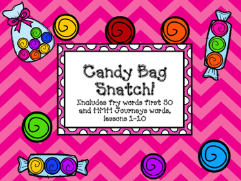 Journeys Words and Fry Word Candy Bag Snatch