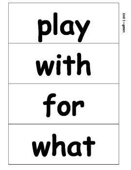 Journeys Words to Know - For Word Wall