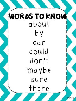 Journeys Words to Know Posters Unit 4