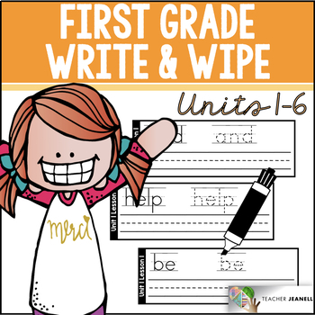 Journeys Write and Wipe Cards First Grade Units 1-6