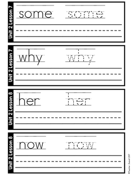 Write and Wipe Cards (Compatible With Journeys First Grade Units 1-6)