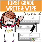 Write and Wipe Cards (Journeys Sight Words First Grade Units 1-6 Supplement)