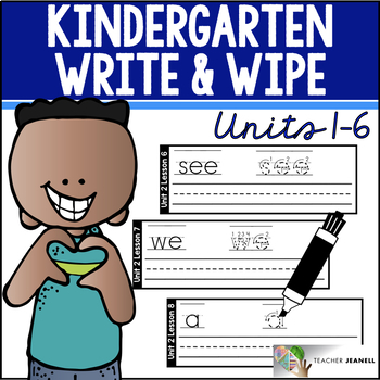 Write and Wipe Cards (Compatible With Journeys Kindergarten Units 1-6)