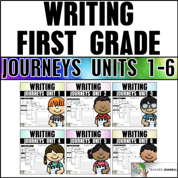 Writing Practice Bundle (Journeys Writing First Grade Units 1-6 Supplement)
