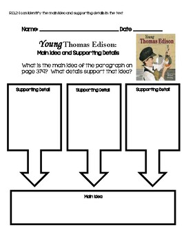 Journeys: Young Thomas Edison Main Idea and Supporting Details
