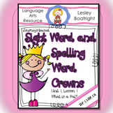 Journeys Sight and Spelling Word Crowns: Lesson 1 What is a Pal?