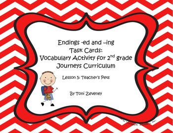 ed and ing Task Cards for Journeys Grade 2