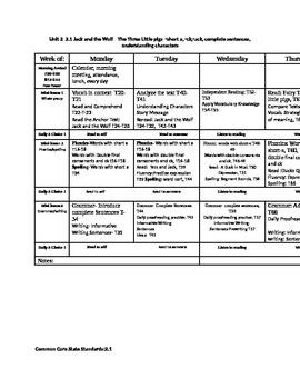 Journey's first grade unit 2 lesson plans