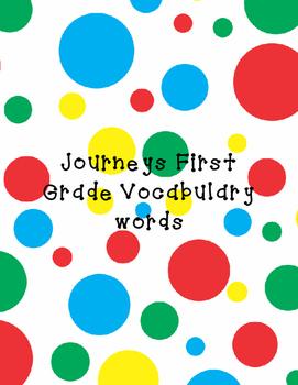 Journeys first grade vocabulary words