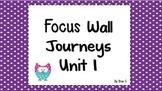 Journeys focus wall 2nd grade Unit 1