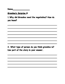 Journeys lesson 7-10 leveled reader comprehension questions