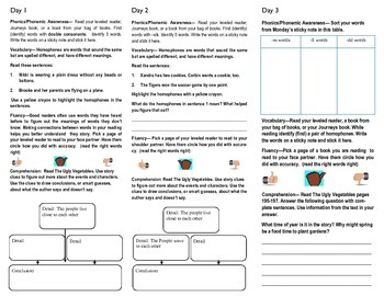 Journeys lesson 7 The Ugly Vegetables trifold