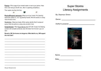 Journeys lesson 8 Super Storms Bifold