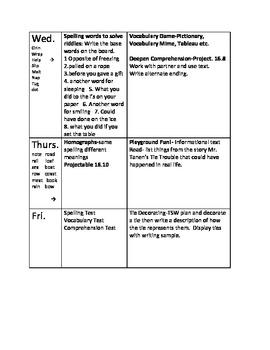 Journeys lesson plans unit 4 second 2nd grade