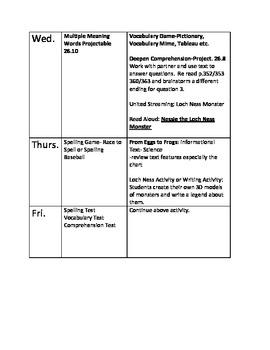Journeys lesson plans unit 6 second 2nd grade