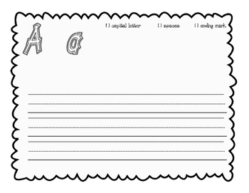 Journeys, kindergarten sentence structure writing pages, Units 1 - 6