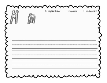 Journeys, kindergarten sentence structure writing pages, U