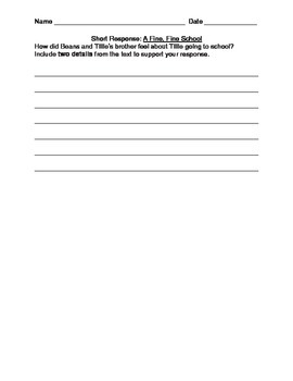 Journeys short and long response questions grade 3