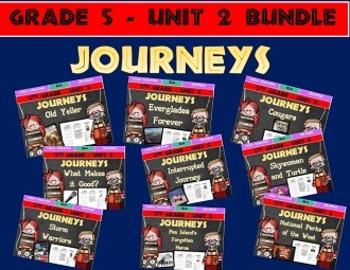 Journeys 5th Grade Unit 2 BUNDLE