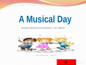 Journey's - First Grade -  Lesson 8 - A MUSICAL DAY -flashcard powerpoint