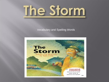 Journey's - First Grade - Lesson 2-The Storm-Voc. & Sp. Powerpoint