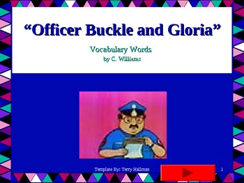 Journey's -Lesson 15 - Officer Buckle and Gloria - Flash Card Powerpoint-second