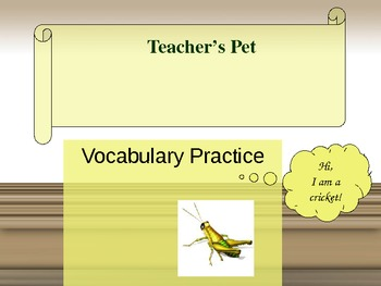 Journeys - Lesson 5 - Teacher's Pet - powerpoint vocabular