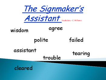 Journey's - Lesson 19 - The Signmaker's Assistant - Voc Powerpoint - 2nd grade