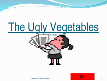Journey's - Lesson 7 - Ugly Vegetables - flash card powerpoint - second grade