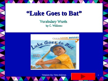 Journey's - Lesson 17 - Luke Goes to Bat - Flash card powerpoint- second grade
