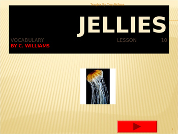 Journey's - Lesson 10 - Jellies - Flash cards powerpoint -2nd Grade