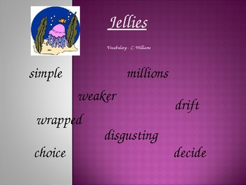 Journey's - Lesson 10 - Jellies - Vocabulary powerpoint -2nd Grade