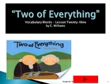 Journey's - Lesson 29 - Two of Everything - flash card powerpoint - 2nd gr.