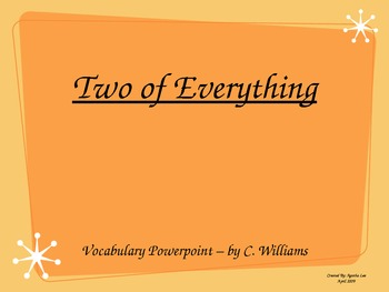 Journey's - Lesson 29 - Two of Everything - vocabulary pow