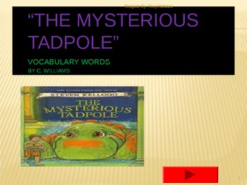 Journey's-Lesson 26-The Mysterious Tadpole-flashcard powerpoint 2nd gr.