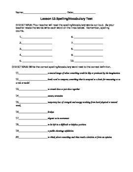 JourneysVocabulary Test, Word List for Antarctic Journal (Editable)