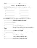 JourneysVocabulary Test, Word List for The Earth Dragon Awakes (Editable)