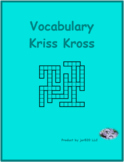 Jours, Mois, Saisons (Days, Months, Seasons in French) Kriss Kross puzzle