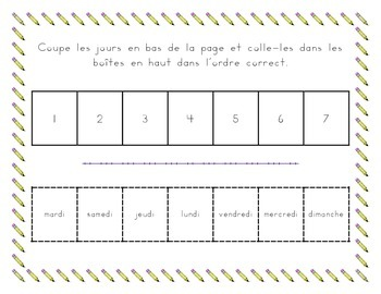 Jours et Mois (Days and Months in French) tracing worksheets