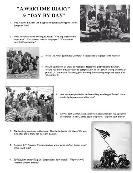 """Joy Hakim's """"War, Peace and All that Jazz""""  Chapters 38 & 42 Worksheet"""