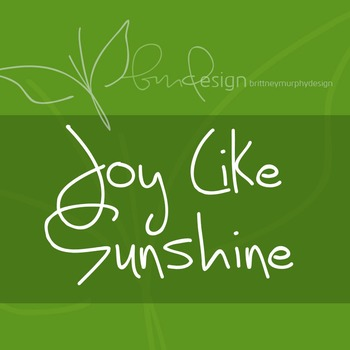 Joy Like Sunshine Through My Windowpane Font for Commercial Use