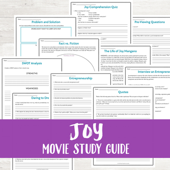 Joy Movie Study Guide