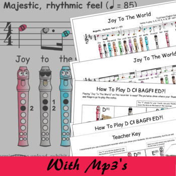 Joy To The World D - Christmas Sheet Music For Recorder