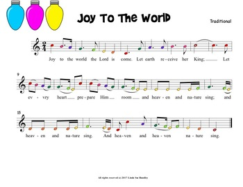 Joy To The World for Boomwhackers & Handbells